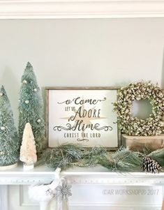 Ar workshop ankeny wine and painting wood sign studio and diy o come let us adore him framed wood sign diy solutioingenieria Image collections
