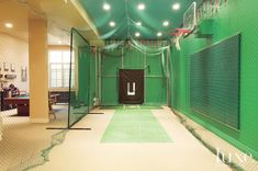 New Indoor Gym Games For Kids Basketball Court 36 Ideas Home Basketball Court, Backyard Basketball, Basketball Hoop, Basketball Equipment, Sports Court, Louisville Basketball, Basketball Finals, Indoor Batting Cage, Batting Cage Backyard