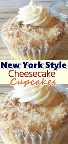 cupcake recipes New York Style Cheesecake Cupcakes Summary: When I make these, people just RAVE about them! The crumbled graham crackers sprinkled on top add the flavor of a cheesecake base. Food Cakes, Cupcake Cakes, Cup Cakes, Muffin Cupcake, Party Cupcakes, Yummy Cupcakes, Biscuits Graham, New York Style Cheesecake, Classic Cheesecake