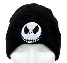 - Jack Face Cuff Beanie Knit Cap - High Quality Sitch Embroidery - Acrylic / Cotton / Polyester - One size fits most! - Beanie cap to keep you warm and looking cool!