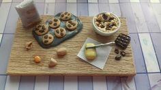 Making some chocolate-chip cookies from polymer clay