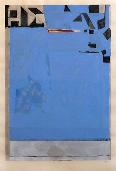 """Blue with Red"", by Richard Diebenkorn. Richard Diebenkorn grew up in San Francisco and attended Stanford University, and later the California S. Pierre Auguste Renoir, Pierre Bonnard, Robert Motherwell, Richard Diebenkorn, Cy Twombly, Gerhard Richter, Francis Bacon, Joan Mitchell, Mark Rothko"