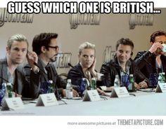 Find the British guy…