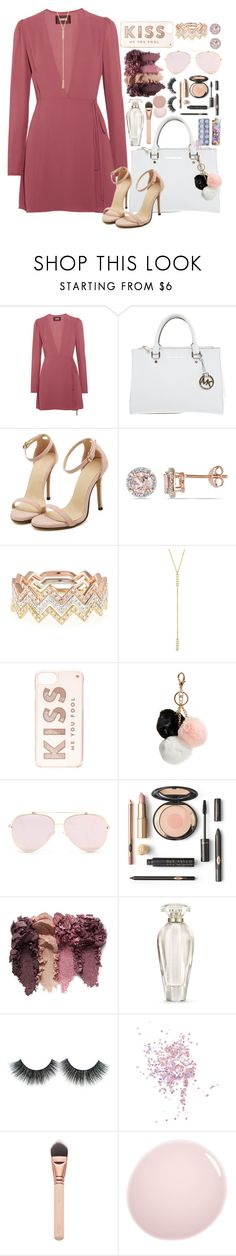 """""""Kiss me you FOOL!"""" by im-a-fancy-unicorn on Polyvore featuring Reformation, Michael Kors, Allurez, EF Collection, Jennifer Meyer Jewelry, Kate Spade, GUESS, Victoria's Secret, Topshop and NARS Cosmetics"""