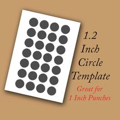 Digital Collage Template 1.2 Inch Circle by SassyCraftsBoutique