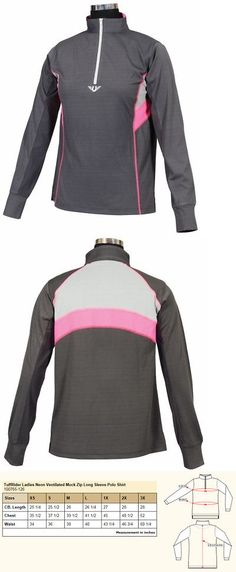 Shirts and Tops 183366: Neon Ventilated Mock Zip L S -> BUY IT NOW ONLY: $35.95 on eBay!