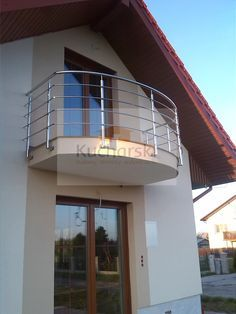 Balustrada balkonowa - taras | Budowa - Remont Ceiling Design Living Room, Living Room Designs, Stairs, Home Decor, Outside Stairs, Staircases, Terrace, Houses, Doors