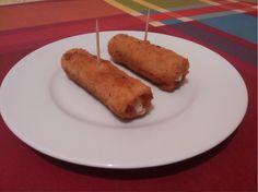 Flamenquines Baked Potato, Tapas, Pork, Meat, Baking, Ethnic Recipes, Appetizers, Ham Steaks, Kitchen Stuff