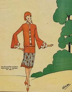outfit for walk in the countryside Art Deco