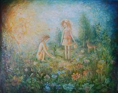 """Space of Love"" Artist: Aigul Nureeva Oil on Canvas #art #artwork #artist #painting  http://www.artwork-gallery.ru/catalog/zhivopis/newbie/prostranstvo_lyubvi"