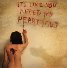 It's like you ripped my heart out. by Amy Spanos, via Flickr