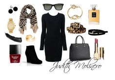 """""""Black and leopard"""" by judith-molinero-fashion on Polyvore featuring Alexander Wang, Express, Butter London, Chanel, Ray-Ban, Michael Kors, Dutch Basics, Bridge Jewelry, H&M and Merona"""