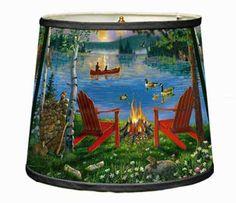 Canoe Campfire Lampshade
