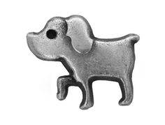 6 Tiny Dog 1/2 inch  12 mm   Puppy Dog Metal by ButtonJones, $4.20