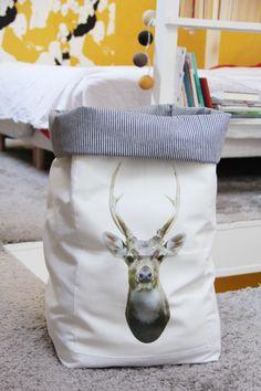DIY - un grand sac de rangement en tissu