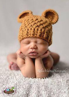 Ravelry: Baby Bear Beanie pattern by Crochet by Jennifer