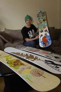 How to Paint Snowboards---I have to do this with my old board!!!