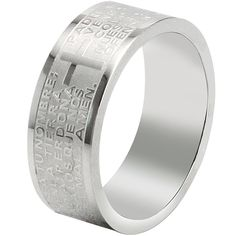 BOHG Jewelry Mens Womens Stainless Steel English Lord's Prayer Cross Ring Couples Wedding Bands Silver -- Details can be found by clicking on the image.