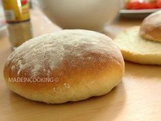 Faluche (Sandwichbrot, Art Pan Bagnat Brot) - Als ich . Pan Bagnat, Cooking Bread, Cooking Chef, Snack Recipes, Cooking Recipes, Snacks, Good Food, Yummy Food, Parfait