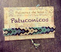 """Pulsera de hilo Patuconicos serie """"IsaZen"""" elegantes y todas diferentes con hilo muy fino de altisima calidad, precio 7€ (gastos de envio no incluidos)."""