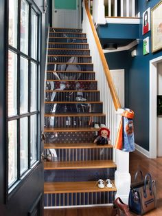 How to Step Up Your Stair Risers With Wallpaper : Page 04 : Rooms : Home & Garden Television