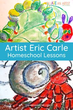 Famous Artist Eric Carle Homeschool Study - You ARE an ARTiST! Famous Books, Famous Artists, Color Wheel Lesson, Teaching Numbers, Small Boy, Unit Studies, Eric Carle, Chalk Pastels, Writing A Book