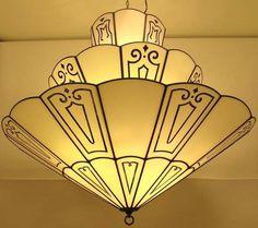 Art Déco - Lustre 'Parapluies' - Années 20-30