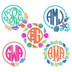 Beach Seashells and Starfish Monogram Round Circle Frame Cuttable Design Cut File. Vector, Clipart, Digital Scrapbooking Download, Available in JPEG, PDF, EPS, DXF and SVG. Works with Cricut, Design Space, Sure Cuts A Lot, Make the Cut!, Inkscape, CorelDraw, Adobe Illustrator, Silhouette Cameo, Brother ScanNCut and other compatible software.