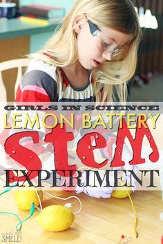 Girls In Science - Lemon Battery STEM Experiment: Green Works is inspiring girls to pursue #STEM careers with their StemBox partnership. #NaturalPotential #StemBox #ad
