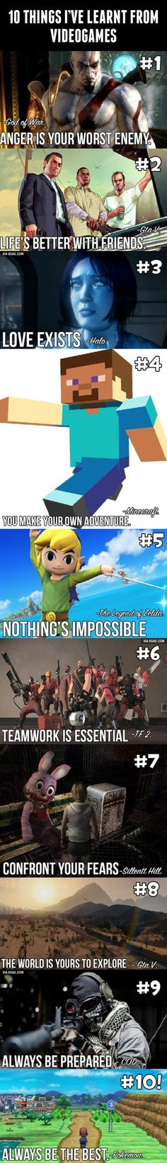 10 Thing I've Learnt From Video Games, Click the link to view today's funniest pictures!