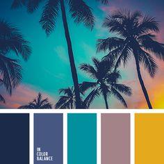лиловый цвет, оранжевый, пепельно-розовый, полуночно-синий, темно-синий, цвет заката, цвет заката на пляже, цвет морской волны и сочный желтый, цвета заката, цвета заката на море, шафрановый.
