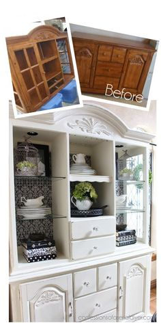 China Cabinet Makeover with Annie Sloan's Chalk Paint