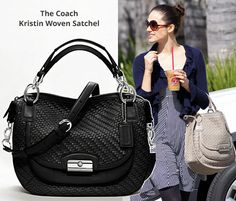Celebrities Pick the Coach Kristin Woven Satchel