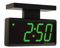 """Amazon.com: Double-sided 4.0"""" Green 6 Digit LED PoE Digital Wall Clock: Home & Kitchen"""