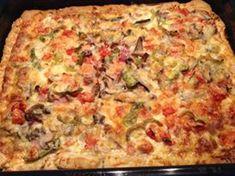 Πίτσα spesial με σπιτική κρέμα γάλακτος!!! ~ ΜΑΓΕΙΡΙΚΗ ΚΑΙ ΣΥΝΤΑΓΕΣ Hawaiian Pizza, Quiche, Breakfast, Food, Morning Coffee, Essen, Quiches, Meals, Yemek