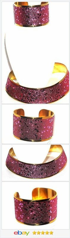 50% OFF #EBAY http://stores.ebay.com/JEWELRY-AND-GIFTS-BY-ALICE-AND-ANN  Pink Stardust Crystal Choker and Cuff Bracelet Set
