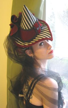 Witch Hat Custom Victorian Tilt Toy Hat. $198.00, via Etsy.