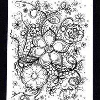 Alfa img - Showing > Zentangle Flower Template