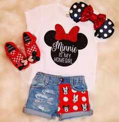 disney world outfit toddler jean shorts Cute Disney Outfits, Disney World Outfits, Disneyland Outfits, Cute Outfits, Summer Outfits, Disneyland Trip, Baby Kind, My Baby Girl, Baby Girl Fashion
