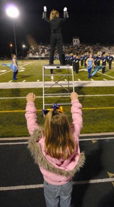 Future drum major.........omg look past everything...our band was there.XD:O over across the field in the bleachers.I can see the zombie outfits