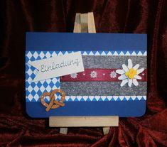 Einladungen - Einladung / Grußkarte Oktoberfest  Biergarten  - ein Designerstück von Bastelkoenigin-de bei DaWanda