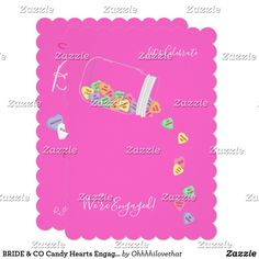 BRIDE & CO Candy Hearts Engagement Party Cards