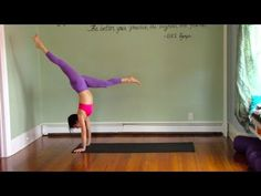 60 Minute Vinyasa Yoga Class with Handstand Play - Level 2/3 - Intermediate/Advanced