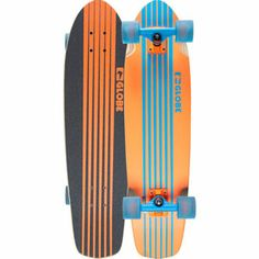 GLOBE Tracer Cruiser Skateboard. I like the flow of this board. It gives nice forward momentum to the look. Nice colors!