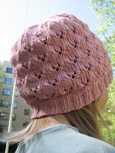 Lace patterned hat for a child. Pattern available for free in Finnish in the online knitmag Ulla, issue Knitting Patterns Free, Free Pattern, Knit Crochet, Crochet Hats, Slouchy Hat, Cute Hats, Knitting Accessories, Kids Hats, Beanie Hats