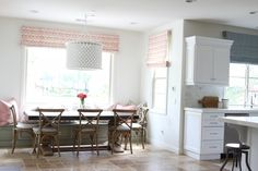 Becki Owens' calming kitchen and dining design - Click to see how to get the look!
