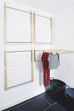amazing bathroom wall decor ideas inspire your home / design - bathroom decor ., Amazing Bathroom Wall Decor Ideas Inspire Your Home / Design - Bathroom Decor, DecorIdeas Small Bathroom Storage, Laundry Room Storage, Laundry Room Design, Clothes Storage, Diy Clothes, Laundry Room Drying Rack, Storage Room, Drying Room, Clothes Drying Racks