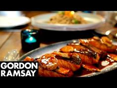 Teriyaki Salmon with Soba Noodle Salad | Gordon Ramsay - YouTube
