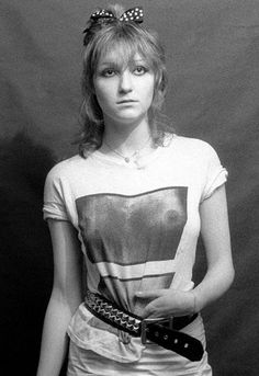 The Slits Viv Albertine wearing a SEX shirt, circa 1978