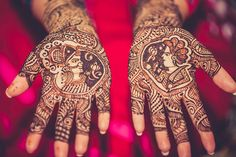 Intricate mehendi on the brides hands at a Bohri wedding of a couple settled in America.  Lifestyle candid wedding pictures at the O Hotel Pune, India.